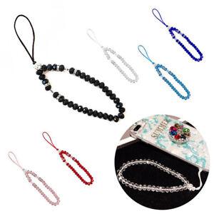 Cellphone Lanyard Beads Mobile ID Card Phone Strap Camera Hand Wrist String 25cm