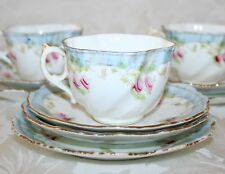 More details for pretty antique early 1800's hand decorated porcelain tea set
