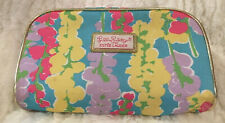 Lilly Pulitzer For Estee Lauder Cosmetic Make Up Travel Bag Case Floral Gold Zip