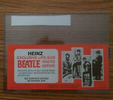 The Beatles original U.S. 1965 in store Heinz coupon for Beatles posters nm cond
