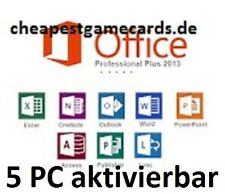 Microsoft Office 2013 Professional Plus MS Office Pro for 5 PC Key par e-mail