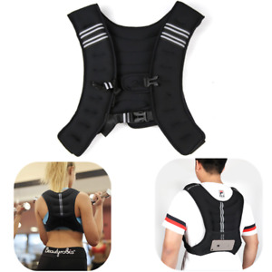 10kg Weighted Vest Running Fitness Weight Loss Strength Jacket Home Gym Training