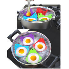 6pcs BPA Free Silicone Egg Poacher Cups Cookware Poached