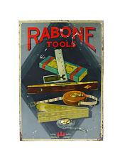 Very Rare Rabone Tools Enamel Advertising Sign
