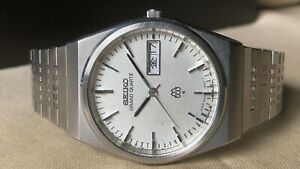 Vintage SEIKO Quartz Watch/ GRAND TWIN QUARTZ 9943-8000 SS 1979 Original Band