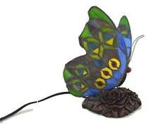 Lampada in stile Tiffany da tavolo farfalla azzurro verde scrivania scrittoio