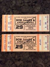 Pair Bob James & Angela Bofill Unused 1980 Concert Ticket Portland Oregon