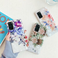 For Samsung Galaxy S20 Ultra S10 S9 Note 9 Soft Silicone Shell Flower Case Cover