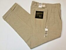 DOCKERS Mens Linen Blend Pants 32 X 30  Pleated Front Cuffed Leg Relaxed  NWT