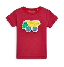 NEW Next Boy Red Truck T Shirt Age 18 24 Months Wadded / 3D Summer Top