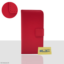 "Real Leather Flip Wallet Phone Case/Cover For Apple iPhone 8 (4.7"") / Red"