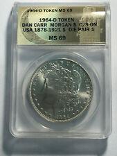 1964-D Morgan Dollar Daniel Carr Moonlight ANACS MS69