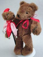 Mardi Gras Teddy Bear Plush 10in Artist Arlene Hayashida w Mummer Parade Puppet