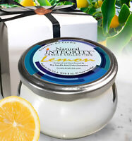 Lemon, Aromatherapy Candle - Essential Oil Infused Soy Candle, Scented Candle