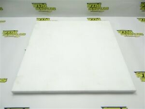 "LOT OF WHITE TEFLON MACHINABLE PLASTIC FLAT STOCK 1/2"" X 13"" X 13"""