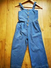 Zara light denim dungarees all in one playsuit size 8 great condition