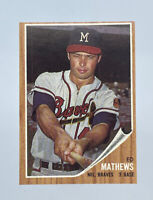 1962 Topps Baseball Card Ed Mathews HOF Milwaukee Braves NM