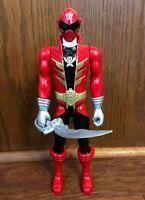 "Red Ranger Power Rangers Super Megaforce 12"" Action Figure w/ Sword 2014 Bandai"