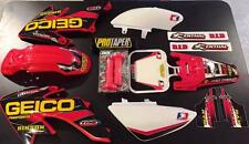 Honda Crf 50 04-16 PitBike Graphics Kit w/plastic red free grips pro taper pad