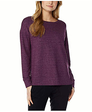 32 Degrees Heat Women's Fleece Active Top Long Sleeve Violet S New 2.99 Shipping