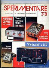 SPERIMENTARE#N.7/8 Luglio-Agosto 1980#Rivista Mensile Elettronica Elettrotecnica