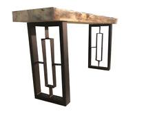 2x Piedi per tavolo, Gambe  panca/tavolo metallo  finish nero bianco  desing