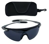 SPORTSPEX Sailing XL Sports Glasses Charcoal Smoke Polycarb Lens Plastic Frame