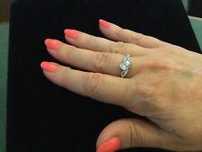 Genuine Diamond Promise Engagement Ring  White Gold #197