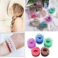 3PCS Girls Elastic Gradient Telephone Wire Cord Hair Ring Hair Ring Rope Set