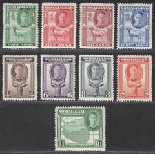 Somaliland Protectorate 1942 King George VI Set to 1r Mint SG105-113 cat £18