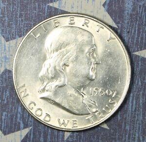 1950-D Franklin Silver Half Dollar Collector Coin. FREE SHIPPING