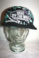 Mens VANS Off The Wall Black Tropical Snapback Baseball Cap Hat Adjustable