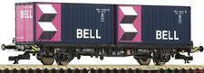TT Containertragwagen beladen mit 2x20' Bell Container DB Ep.V Roco 37513 Neu!!!