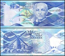 Barbados 2 Dollars, P-72, 2013, UNC