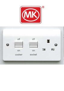MK Electric K5060 Cooker Control Unit Switchsocket 1-Gang #BOX PACK#