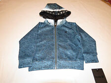 Boy's Toddler youth Hurley jacket hoodie coat 2T NEW surf Shark 881732 EEO teal