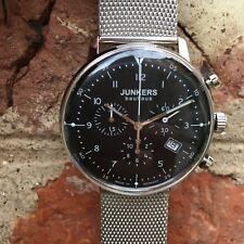 JUNKERS Bauhaus 6086-2 cronografo svizzero al quarzo 10% di sconto + 1 ZULU Cinturino RRP £ 249