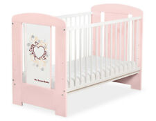 My Sweet Baby - Baby White Cot with Burgundy Heart - Light Pink