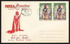wc029 Jamaica Miss World 1963 Mecca Promotions FDC first day cover