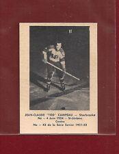 1951-52 Laval Dairy #43 Jean-Claude Campeau - Sherbrooke