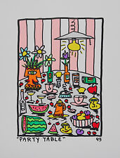 JAMES RIZZI - Party Table - Lithographie couleur 1995 - 2D 29,0 X 23,0 cm
