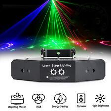 6 Lens Scan Laser Light Dmx Line Beam Rgb Scanning Stage Lighting Dj Dance New
