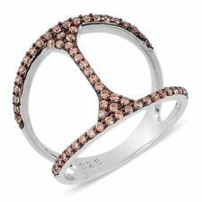 CHAMPAGNE STERLING PAVE RING #size6rings #size7rings #sterlingsilverrings #rings
