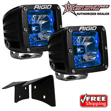 Rigid Radiance A-Pillar LED Lights w/ Blue Backlight for 07-18 Jeep Wrangler JK