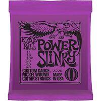 ERNIE BALL POWER SLINKY ELECTRIC GUITAR STRINGS 11 - 48 - 2220