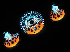 96-00 Honda Civic DX Manual Stick Shift Flamed White Face Glow Gauges Kit