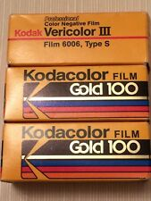 120 FILM 3 rolls color negative- 2 KODAK Kodacolor GOLD and 1 roll Vericolor III
