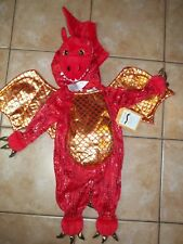Pottery Barn Kids Baby Dragon Red 0-6 Months Halloween Costume #53