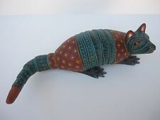 MEXICAN OAXACA CARVINGS GORGEOUS ARMADILLO  MEXICAN FOLK ART