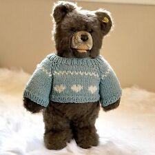 Vintage Steiff Minky Zotty Caramel Standing Plush Bear Ear Button Tag 0302/35